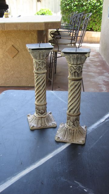 Refinish Candle sticks with caromal colours paint